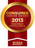 Consumer Choice Award 2013 Business Excellence